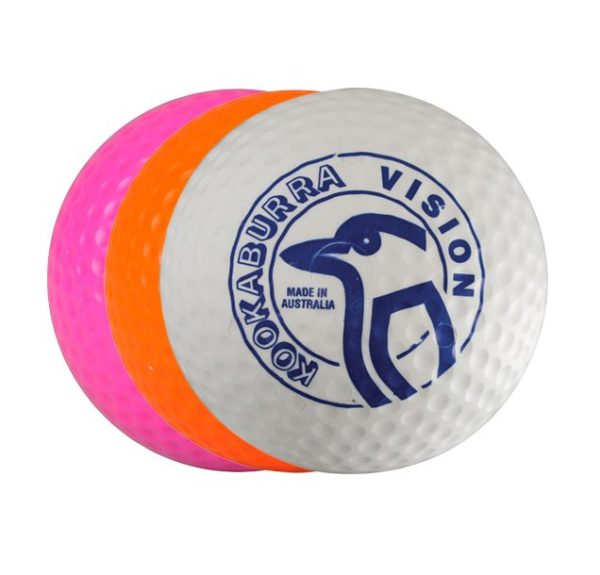 Kookaburra Dimple Vision White Hockey Ball-6806