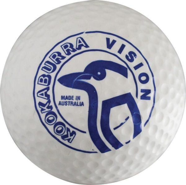 Kookaburra Dimple Vision White Hockey Ball-0