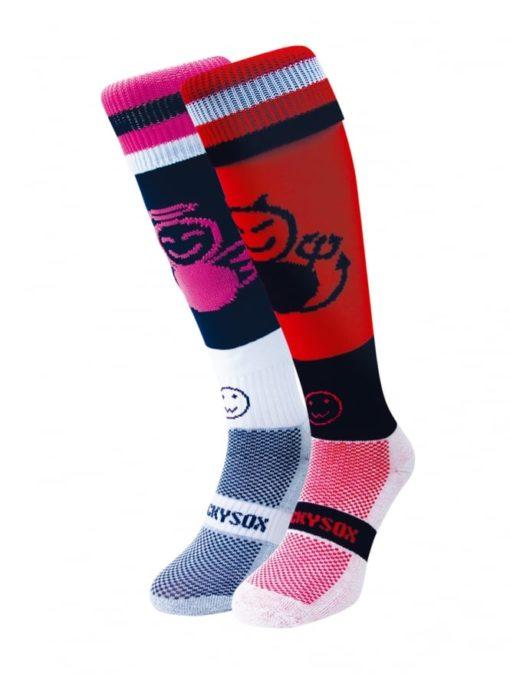 WackySox Angel and Devil Hockey Sports Sock-0