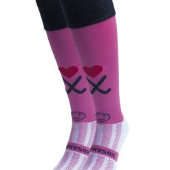 WackySox Hockey Addict Pink Hockey Sports Sock-0