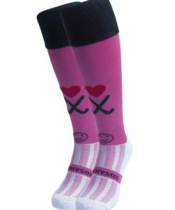 WackySox Hockey Addict Pink Hockey Sports Sock-0