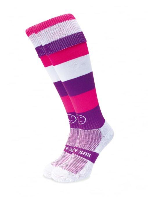 WackySox Purple Smoothie Hockey Sports Sock-0