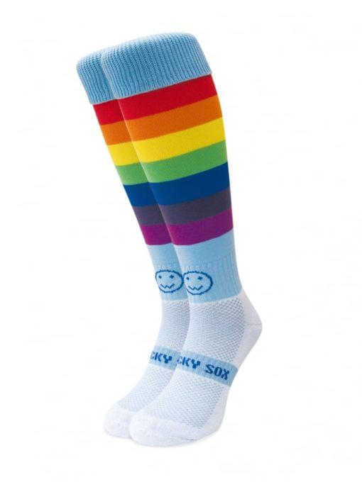 WackySox Rainbow Warrior Hockey Sports Sock-0