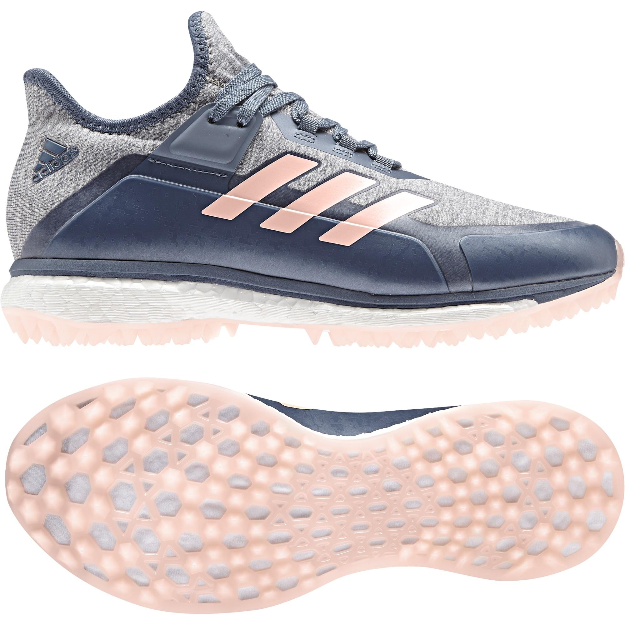 quality design bec5d 43fb1 Adidas 2018 Fabela X Grey Ladies Hockey Shoes
