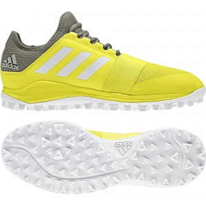 Adidas 2018 Divox Yellow Mens Hockey Shoe