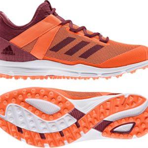 Adidas Zone Dox Hockey Shoe Orange/Maroon