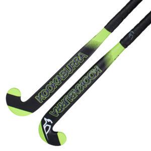 Kookaburra Neon Black Wooden Hockey Stick 19/200