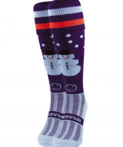 purple snowman wacky sox